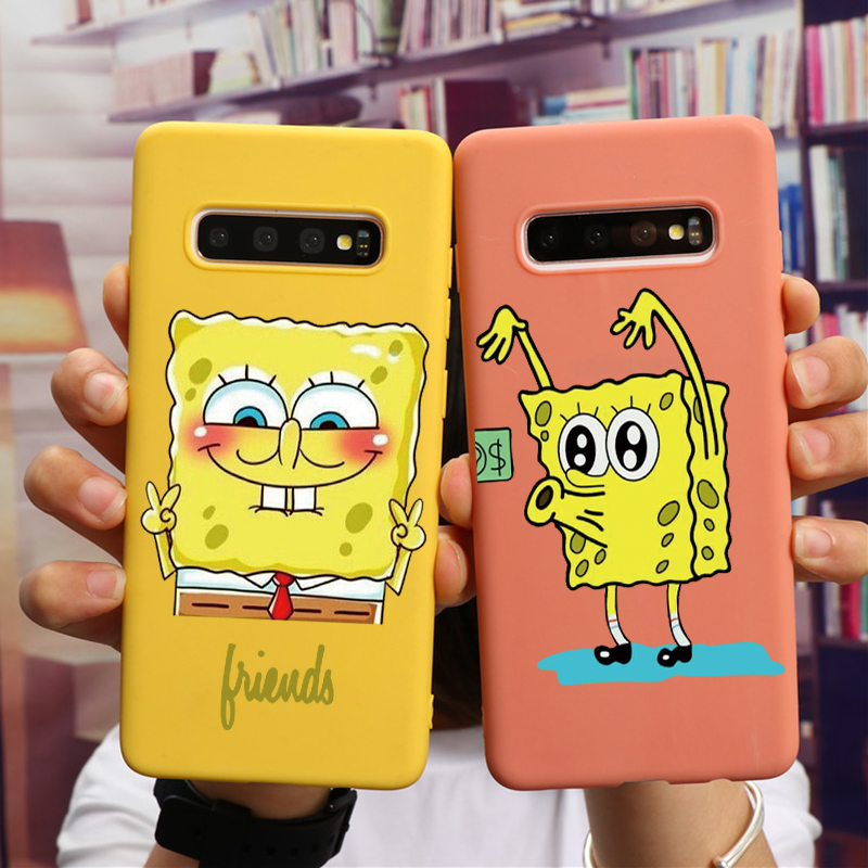 Spongebob TPU For Samsung Galaxy A51 A21 A71 A20e A20S A10S A30S J3 J7 J5 A5 A7 2017 J4 J6 J8 A6 Plus 2018 M10 M20 M30 M30S Case