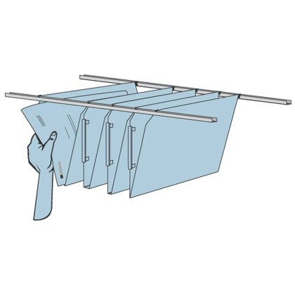 GUIDES CABINETS FAST-PAPERFLOW HANGING FOLDERS FOR EOSO2R02-PACK 2