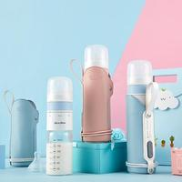 Baby Insulated Thermostat Bottle Infant Thermostat Portable Travel Milk Feeding Bottle Thermostat Glass Milk Powder Bottle