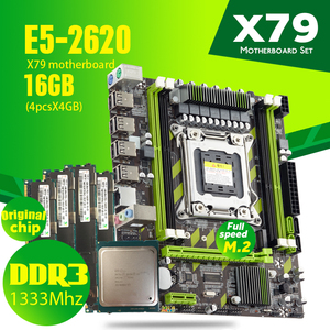 Atermiter X79G X79 motherboard set with LGA2011 combos Xeon E5 2620 CPU 4pcs x 4GB = 16GB memory DDR3 RAM 1333Mhz PC3 10600R RAM(China)