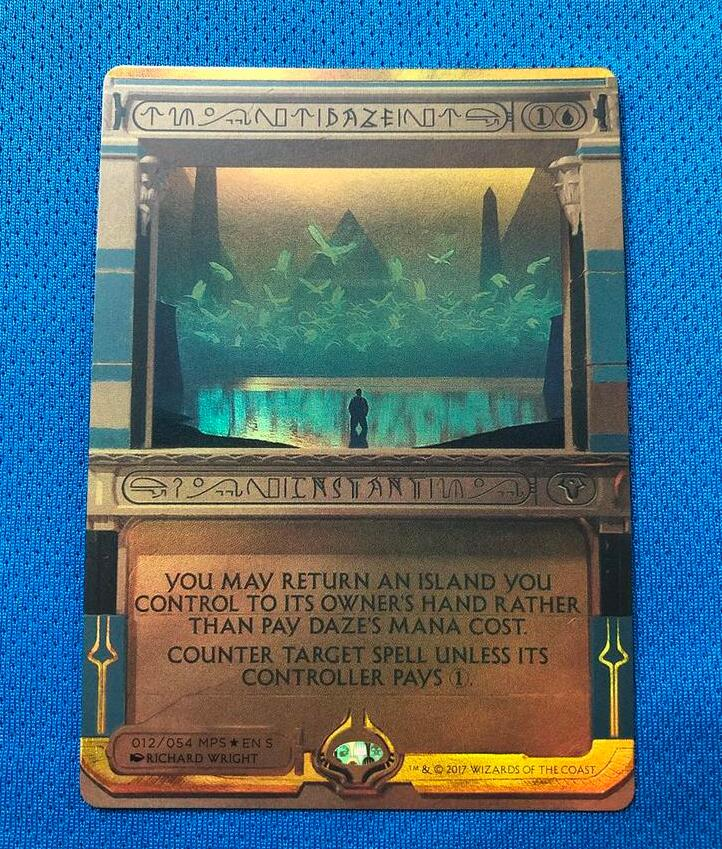 Daze Amonkhet Invocations (MP2) Golden Holofoil Magician ProxyKing 8.0 VIP The Proxy Cards To Gathering Single Mg Card.