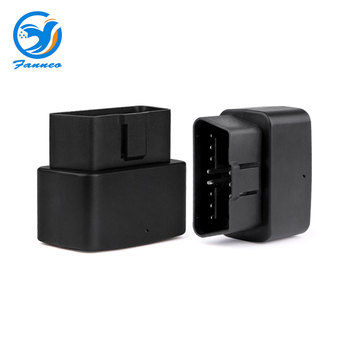 Fanneo 2G GSM OBD2 real-time gps tracker LK730 car tracking device with over-speed power off and illegal cut line alert obd gps image