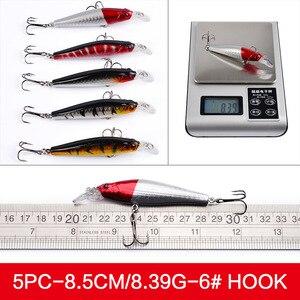 Image 4 - Bộ Bộ Wobblers Cá Chép Minnow Cứng/Nhân Tạo/Mồi Giả Cho Câu/Dụ Hỗn Hợp Swimbait Crankbaits trolling Pike 56 Chiếc