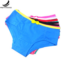 Prettywowgo (5pcs/lot) Women Cotton Brief Underwear Panties Breathable Ladies Girls Underpant Birthday Gift 6999