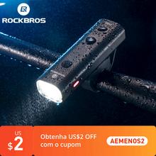 ROCKBROS-Lampka rowerowa LED przednia ładowana przez USB 2000 mAh bardzo lekka aluminiowa wodoodporna do MTB tanie tanio CN (pochodzenie) YQ-QD400LM Kierownica Baterii Aluminum Alloy About 103*23*30mm About 122 g 200 400 Lumen Highlight Normal Brightness flash