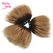 Human-Hair-Extensions Remy-Hair Curly for African Women Halo Weaves Afro Beauty Kinky
