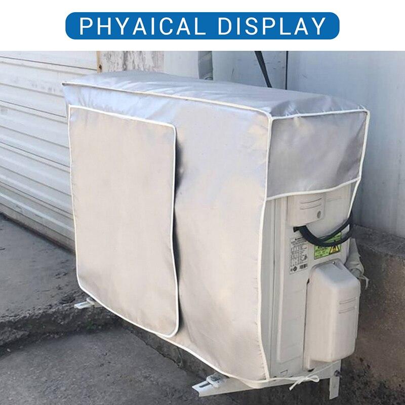 Защита от пыли, защита от снега, водонепроницаемый чехол для наружного кондиционера, чехол для очистки кондиционера Oxford|Чехлы для кондиционеров|   | АлиЭкспресс