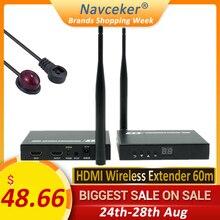 2020 5GHz Wireless HDMI שידור Extender תמיכת IR HDMI אלחוטי משדר מקלט ערכת HD 1080P WIFI HDMI משדר