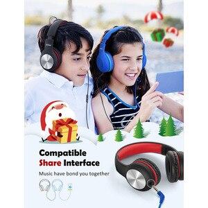 Image 4 - Mpow CH6 Pro enfants casque pliant filaire casque limiteur de Volume casque avec Microphone cadeau de noël pour enfants filles
