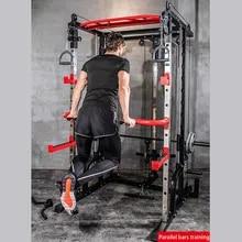 Bench-Press Smith-Machine Squat Gantry Fitness Multifunctional Household Fly-Bird