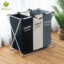 Складная корзина для белья органайзер для грязной одежды корзина для белья большой сортировщик две или три сетки Складная складная корзина