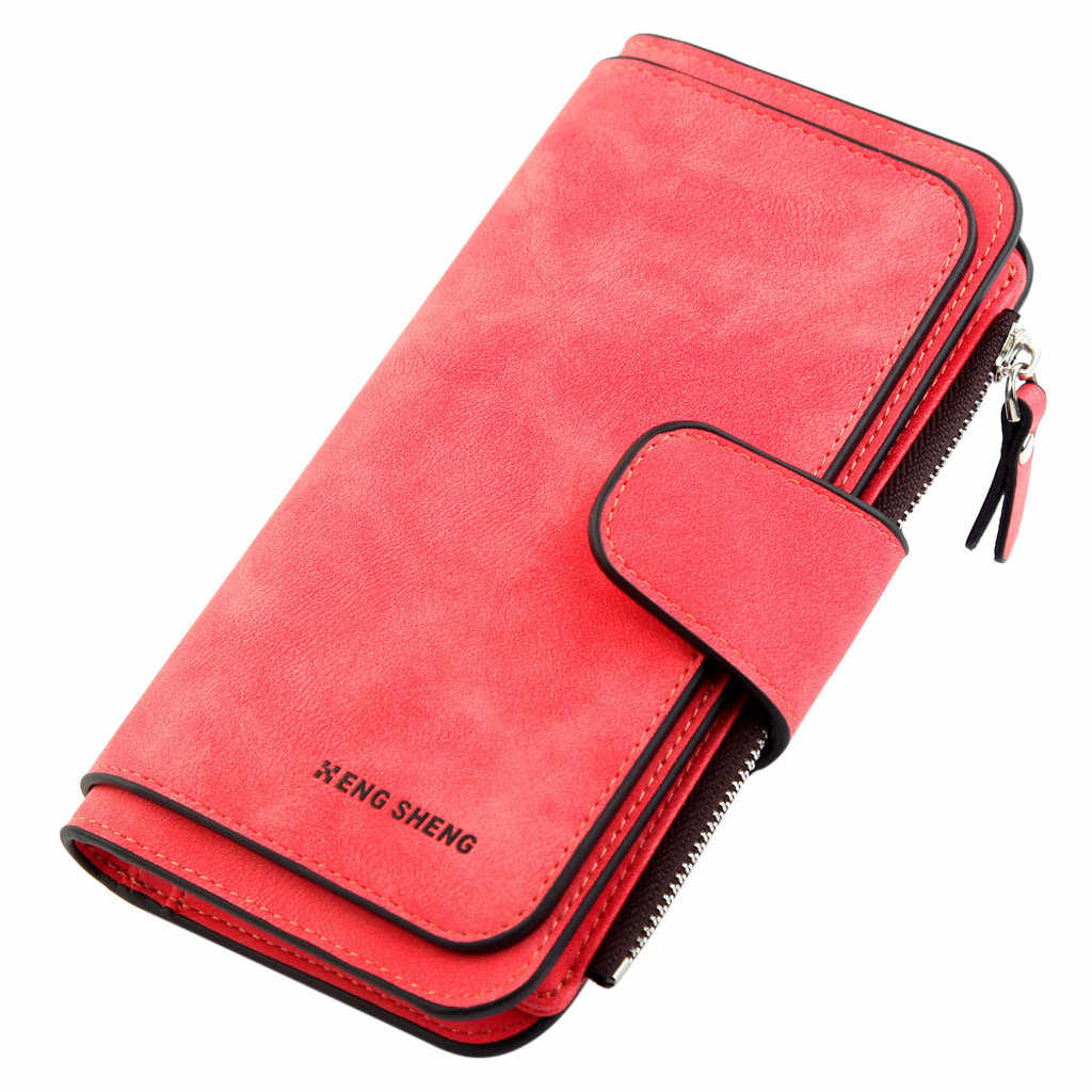 Large Capacity Wallets For Women Solid PU Leather Multi Pockets Credit Card Holder Fashion Ladies Outdoor Party Coin Purse Pouch