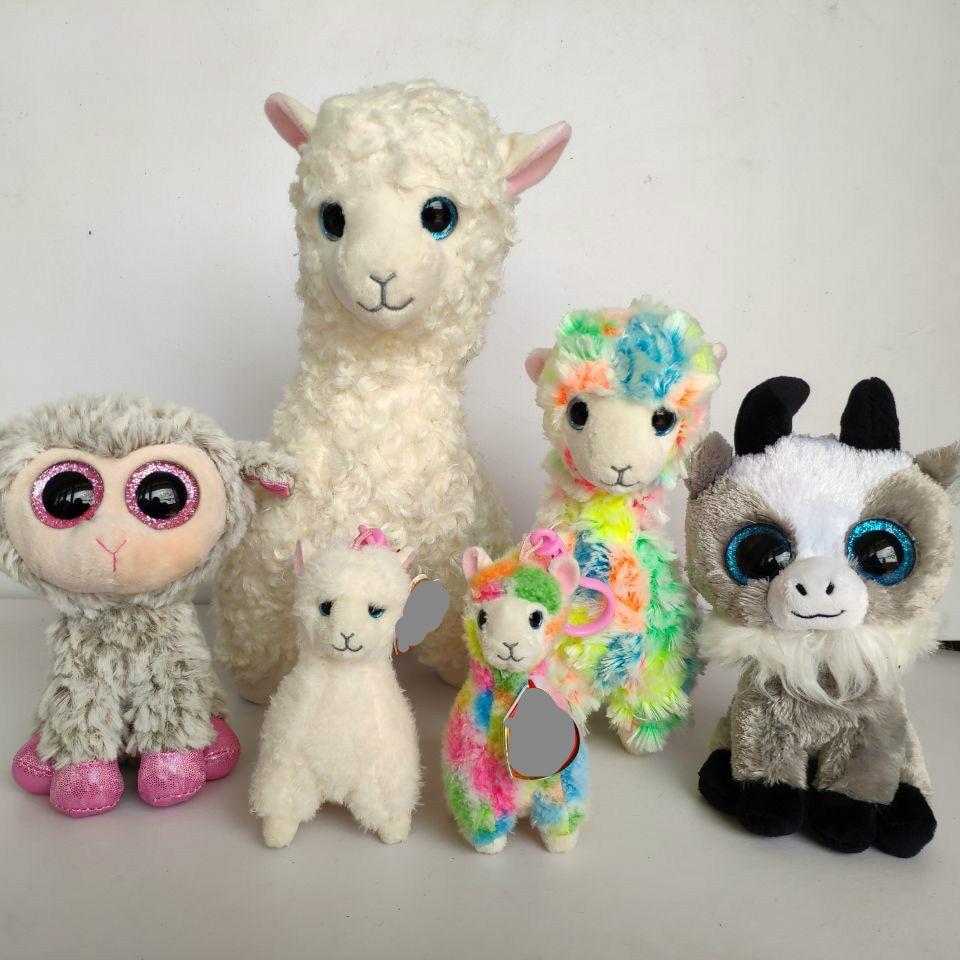 Lily Lana Lola Alpaca Gabby Goat Sheep Dixie Lamb Daffodil Big Eyes Plush Toys Christmas Gift Kids Soft Toys Gift Nano Dolls