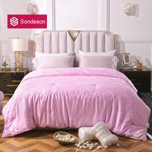 Sondeson роскошное женское одеяло из 100% тутового шелка розового