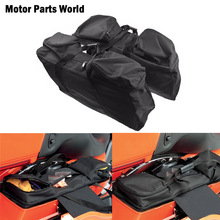 Motorcycle Black Hard Saddlebag Luggage Liners Tour Pack Soft Liner Bags For Harley Touring Electra Street Glide FLHX FLHR 93-18