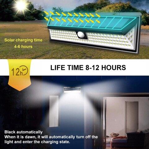 ip65 a prova dwaterproof agua solar luz ao ar livre 3 modos solar lampada de