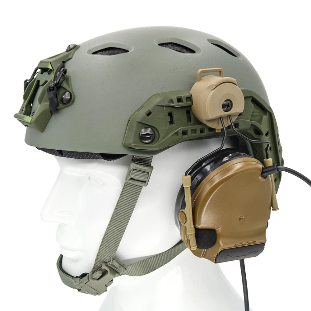Купить с кэшбэком ARC Rail Adapter Helmet Headset Left & Right Side Attachments for Peltor Comtac I II III Tactics Headphones,1 Pair