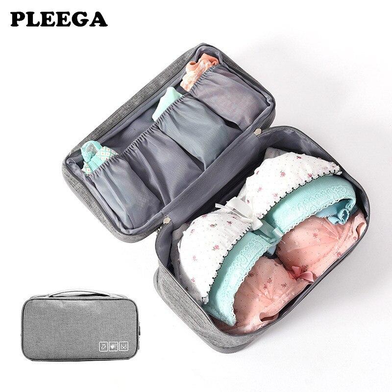 PLEEGA Practical Fashion Luggage Storage Cosmetic Bag 6 Colors Portable Bra Underwear Bag Travel Wash Storage Organizer Bag