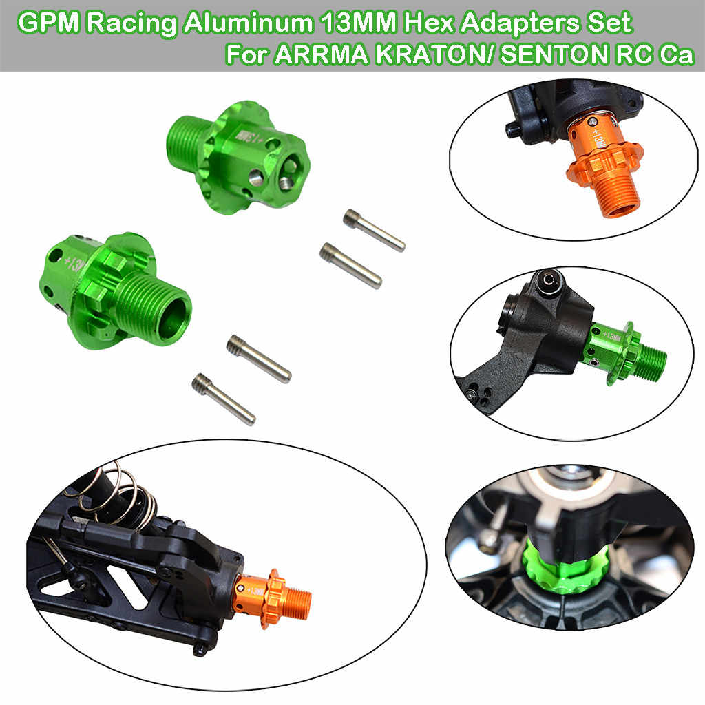GPM Racing Aluminium 13MM Hex Adapters Set Voor ARRMA KRATON/SENTON RC Auto