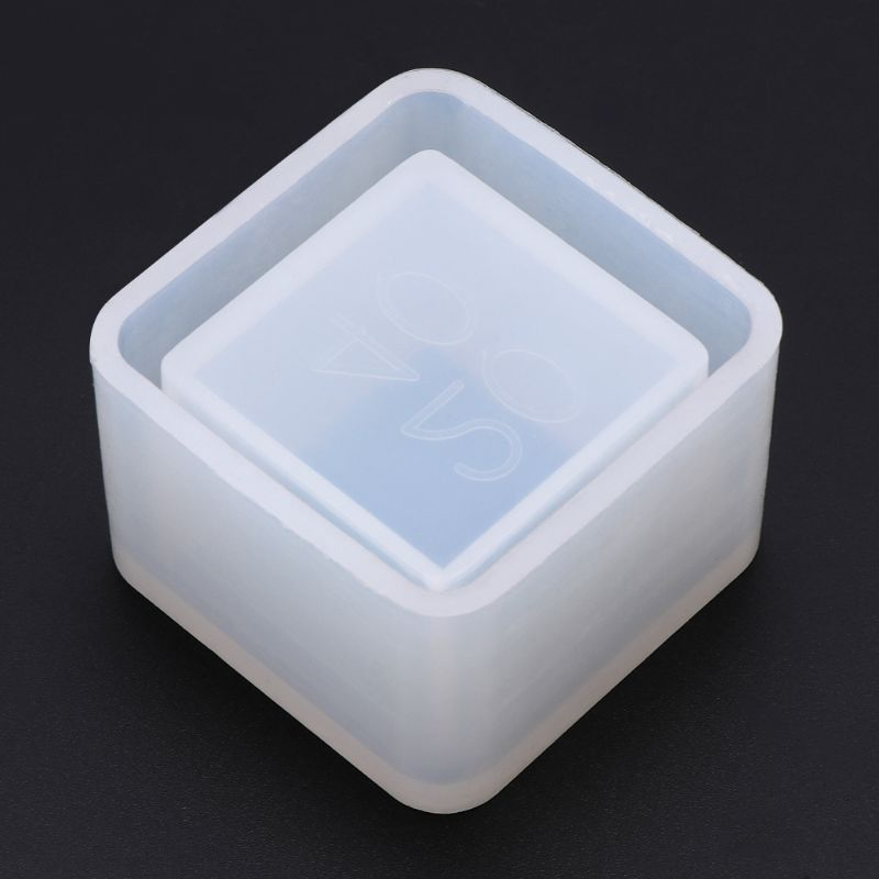 Square Small Flowerpot Silicone Mould Storage Box DIY Handmade Making Crafts Crystal Epoxy Mold