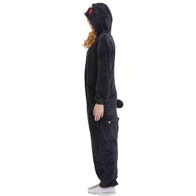 Hksng Kigurumi Bear Onesies Cartoon Flanel Bruin Dier Volwassen Kumamon Halloween Pyjama Cosplay Kostuums Jumpsuits