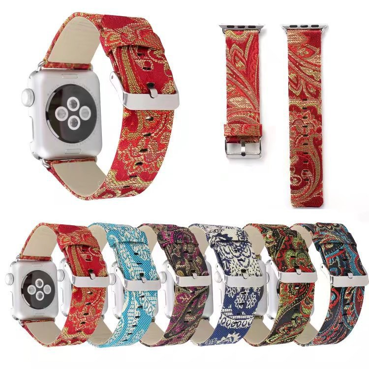 2019 For Apple Watch Silk Leather Watch Strap APPLE Watch Strap IWatch Leather Watch Strap