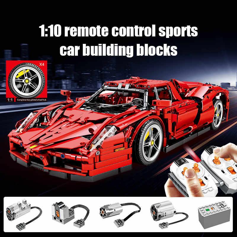 2615 Pcs Kota Remote Control Mobil Balap Moc Model Blok Bangunan untuk Teknik RC Mobil Sport Creator Batu Bata Mainan untuk anak Hadiah