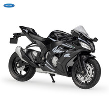 WELLY 1:18  2017 Ninja ZX10-RR   Diecast Alloy Motorcycle Model Toy For Children Birthday Gift Toys Collection welly 1 18 yamaha yp240dx diecast alloy motorcycle model toy for children birthday gift toys collection