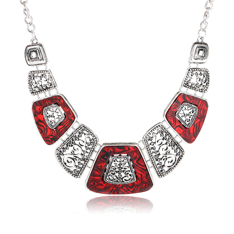 Kymyad Collares Necklace Women New Geometric Necklaces Pendants Vintage Choker Statement Necklace Collier Femme in Choker Necklaces from Jewelry Accessories