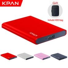 KPAN Metal thin HDD external portable hard drive Storage capacity Disco duro portátil externo for PC/Mac Include HDD bag  gift