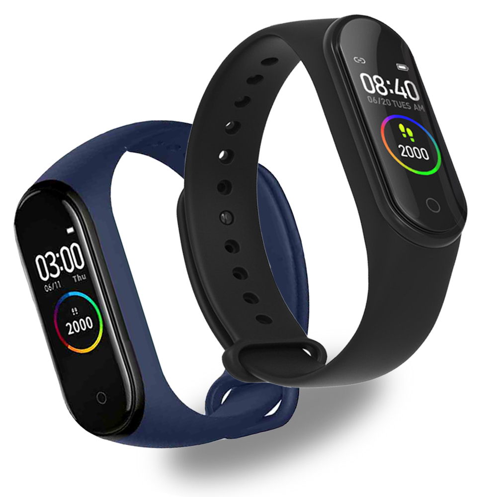M4 Sports Smart Bracelet Color Screen Bluetooth Pedometer Heart Rate Blood Pressure Health Monitoring Tracker Smart Watch