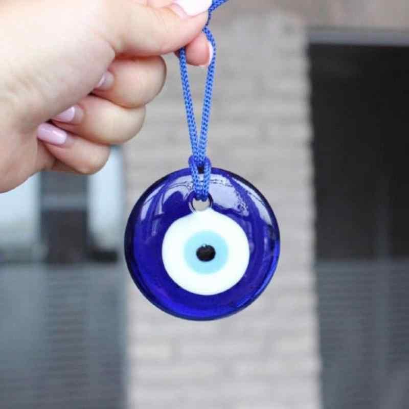 DIY จี้ Lucky ตุรกีสีฟ้าดวงตาอินเทรนด์แขวน Charms โรงแรม Office Home Decor ของขวัญ Lucky แก้วเครื่องประดับ