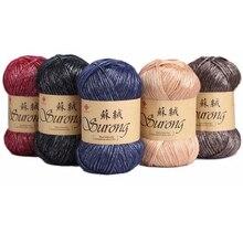 4pcs חוט עבור סריגה שטיח מכירה לוהטת הסרוגה חוט Lanas para tejer 100 גרם\יחידה ovillos דה לנה
