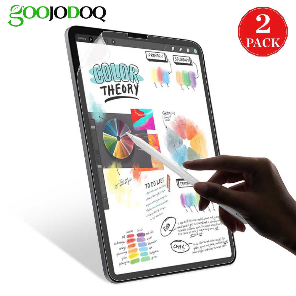 GOOJODOQ Papier Wie Display-schutz für iPad Pro 11 2018 2020 10,5 Air 3 2 1 iPad 10,2 2019 iPad mini 5 4 3 2 1 Matte PET Film