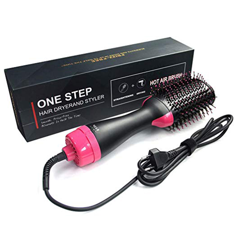 One Step Electric Hot Air Brush Multifunctional Negative Ions Hair Blow Dryer Straightener Brush Smooth Frizz & Ionic Technology