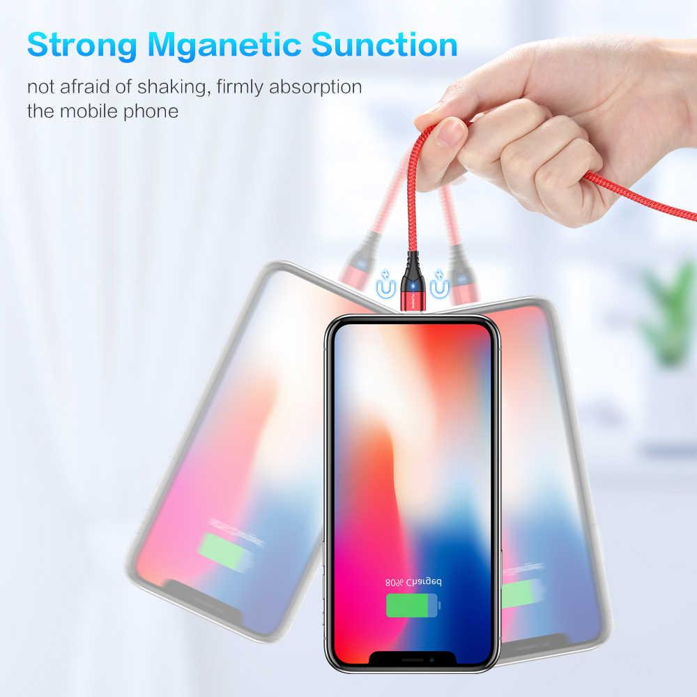 FLOVEME 磁気ケーブルマイクロ Usb タイプ C iphone 照明ケーブル 1M 3A 高速充電ワイヤータイプ C マグネット充電器電話ケーブル