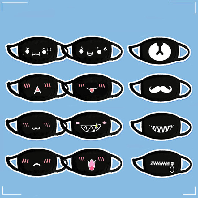 Hot Cute Cartoon Face Mask Anti-bacterial Unisex Dust Winter Warm Mouth Mask Multi Style Anti Dust Cotton Facial Protective