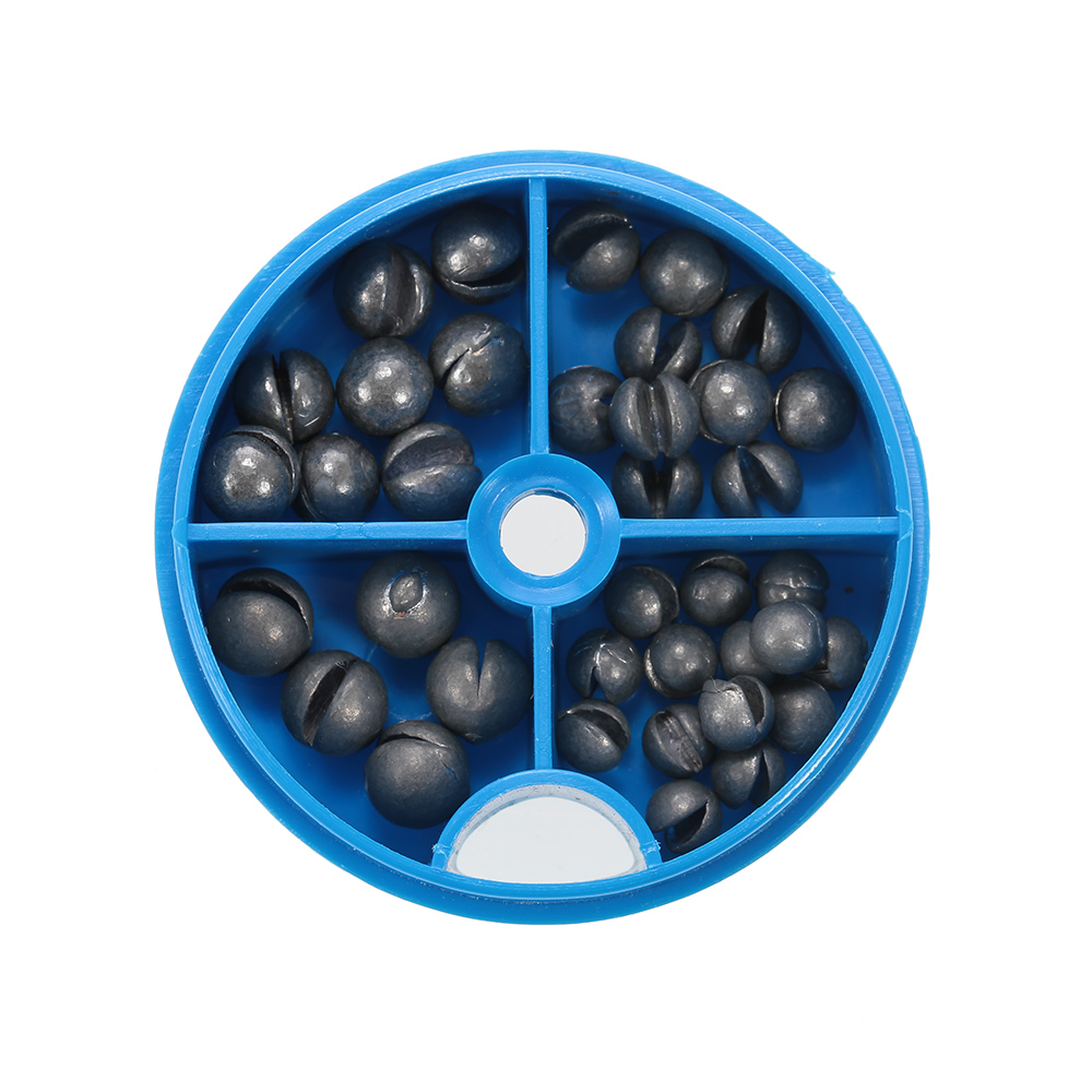 0.6/1/1.5/1.8g Round Split Shot Sinkers Removable Open Pure Lead Weights Fishing Tackle Beans Sinker With Box