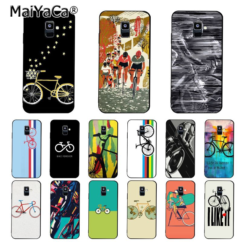 MaiYaCa BIKE CYCLING Art Phone Case For Samsung Galaxy A7 A8 A6 Plus A750 A9 2018 A50 A70 A20 A30 A40 image