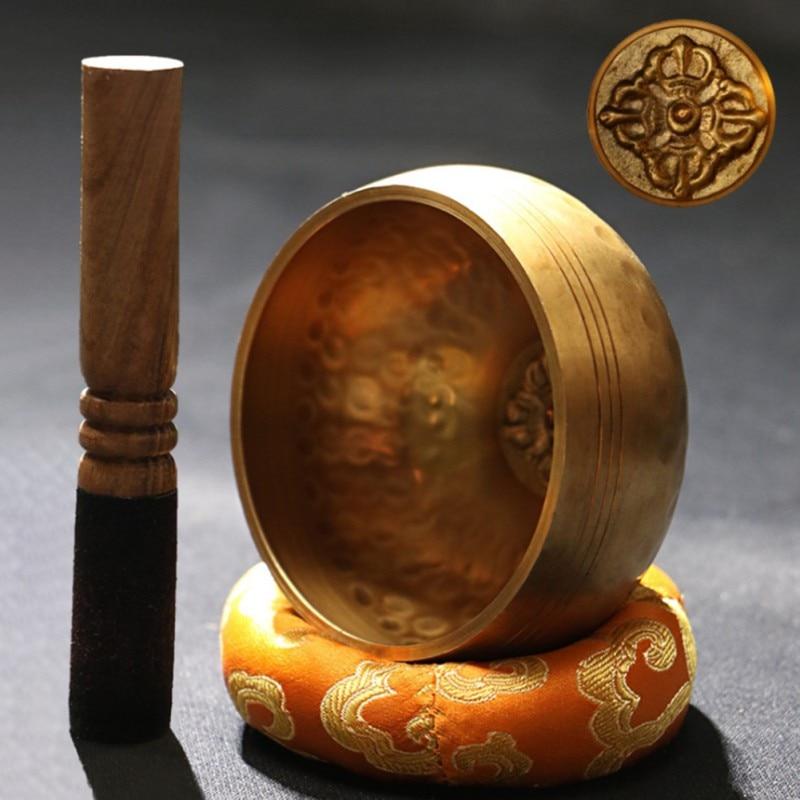 Apprehensive Copper Buddha Sound Bowl Yoga Meditation Instruments Singing Bowl Handicraft Music Therapy Tibetan Bowl Home Decoration Bowls #