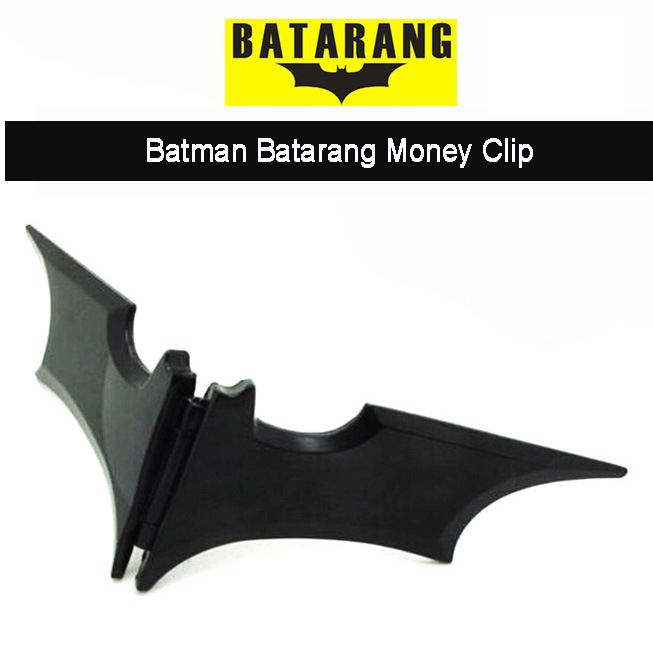 Batman Batarang Bat Batarang Alloy Metal Magnetic Wallet Money Clip EDC Wallet
