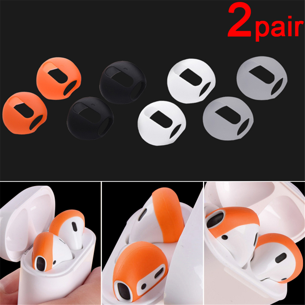 2-10pcs New Fashion Soft Ultra Thin Earphone Tips Anti Slip Earbud Silicone Earphone Case Cover For Apple AirPods Earpods