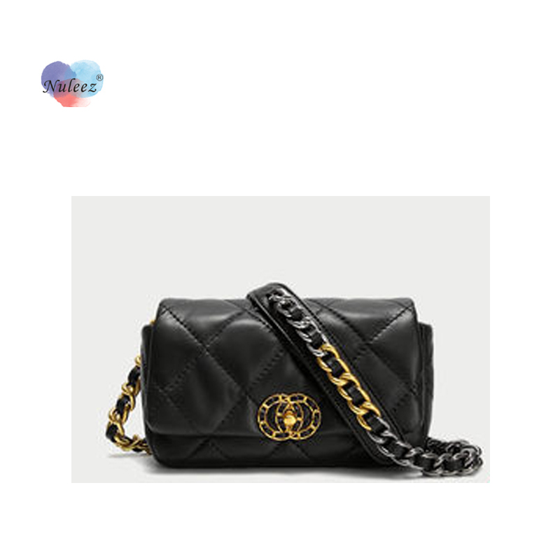 Nuleez Genuine Cowhide Chest Bag Women Waist Bag Mini Bag Leading The Fashion Style New Collection Wallet
