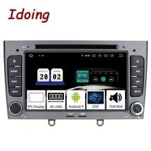 Idoing 7 дюймов 2Din автомобильный Android 9,0 Радио мультимедийный плеер для Peugeot 308 PX5 4G + 64G 8 ядер IPS экран GPS навигация TDA7850