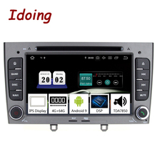 Idoing 7 zoll 2Din Auto Android 9.0 Radio Multimedia Player Für Peugeot 308 PX5 4G + 64G 8 Core IPS bildschirm GPS Navigation TDA7850