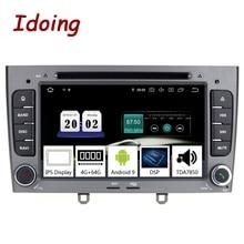 Reproductor Multimedia de Radio iding de 7 pulgadas 2Din para coche Android 9,0 para Peugeot 308 PX5 4G + 64G 8 núcleos IPS de navegación GPS TDA7850