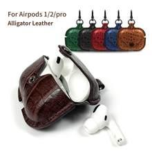 Étui Airpods Pro en cuir motif Crocodile, housse en cuir de serpent pour casque Esr
