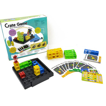 Kids Crate Board Game Box Jump Lattice Game Puzzle Game Toys For Children Parent Child Interactive Tabletop Game Toy