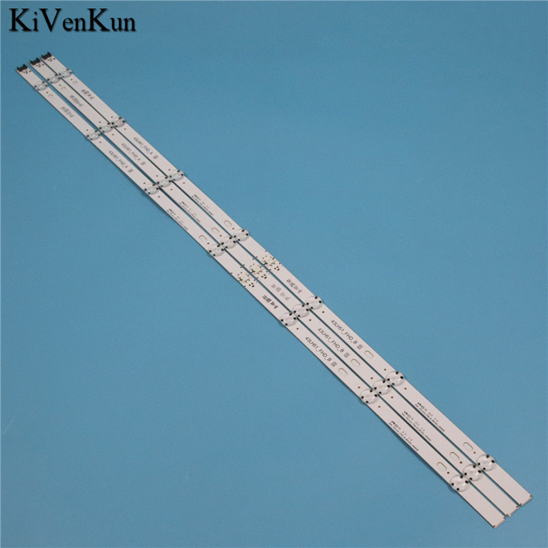 LED Backlight Strips For LG 43LH570A 43LH570T 43LH570V LED Bars Band Rulers 43LH51_FHD_A S LGE_WICOP_FHD SSC_43inch_FHD_B_REV02