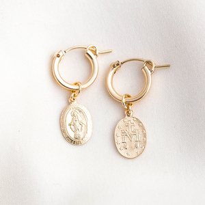 Gold Filled Coins Earrings 15M